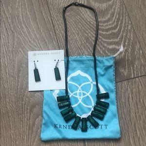 Kendra Scott Angelina Necklace & Matching Earrings